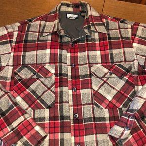 VTG Sears Fieldmaster Insulated Flannel Shirt Sz L